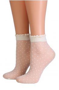 PUNTINA creamy white sheer socks   BestSockDrawer.com