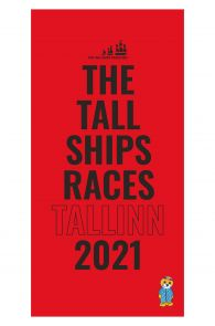 THE TALL SHIPS RACES 2021 red microfiber towel | BestSockDrawer.com