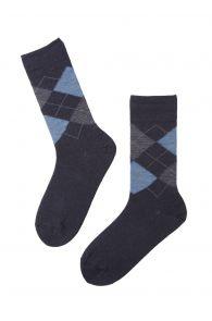 RAIN dark blue merino socks for men   BestSockDrawer.com