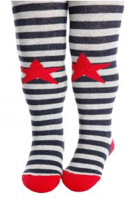 RASMUS grey striped tights for babies | BestSockDrawer.com