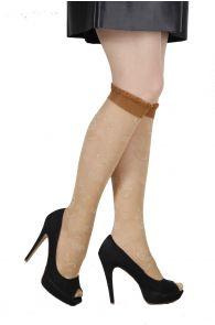 RIINA 20 DEN beige knee highs for women | BestSockDrawer.com