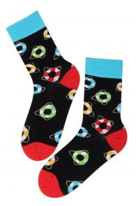 JERRY cotton socks with lifebelts | BestSockDrawer.com