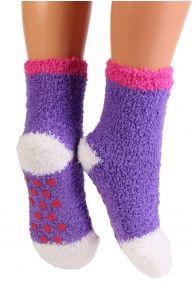 RONJA cozy lilac home socks for kids   BestSockDrawer.com