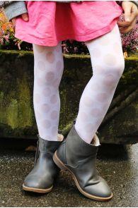 SABINA white tights for kids | BestSockDrawer.com