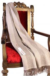 Alpaca wool brownish-grey herringbone patterned plaid   BestSockDrawer.com