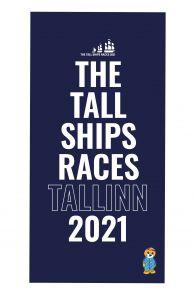 THE TALL SHIPS RACES 2021 blue microfiber towel   BestSockDrawer.com