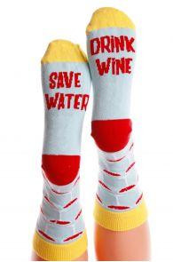 SAVE WATER light blue cotton socks for women | BestSockDrawer.com