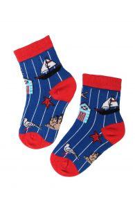 SEA marine themed cotton socks for kids | BestSockDrawer.com
