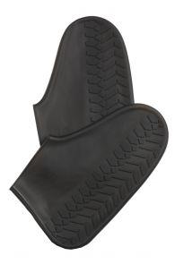 Black waterproof shoe protectors | BestSockDrawer.com