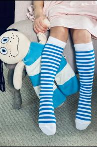 SUNNY striped knee highs for children | BestSockDrawer.com