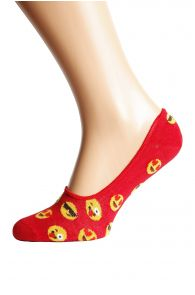 SMILEY red cotton liners | BestSockDrawer.com