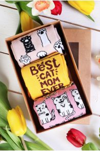 PAWS UP Mother's Day gift box with 3 pairs of socks | BestSockDrawer.com