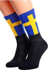SWEDEN flag socks for men and women | BestSockDrawer.com