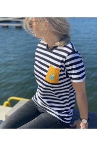 THE TALL SHIPS RACES 2021 striped shirt with a yellow pocket | BestSockDrawer.com