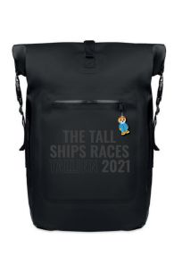 THE TALL SHIPS RACES 2021 backpack with black text   BestSockDrawer.com