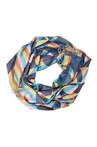 Alpaca wool and silk striped shawl | BestSockDrawer.com