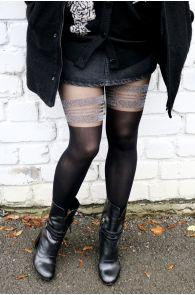 MINELLI black sparkling tights | BestSockDrawer.com