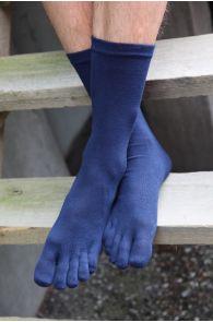 MEN TOES blue toe socks   BestSockDrawer.com