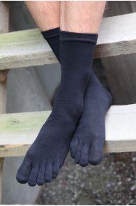 MEN TOES black toe socks   BestSockDrawer.com