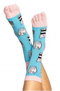 CAT patterned toe socks for men and women | BestSockDrawer.com
