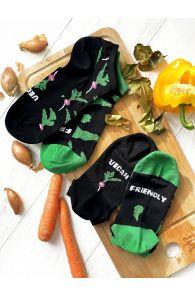 VEGAN black low-cut chef socks | BestSockDrawer.com