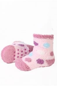VERA cozy pink home socks for babies | BestSockDrawer.com