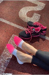 VIKI grey-pink no show socks for women | BestSockDrawer.com