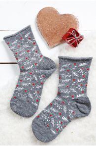 WONDERLAND grey angora socks for children | BestSockDrawer.com